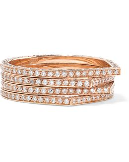 Antifer 18-karat Rose Gold Diamond Ring