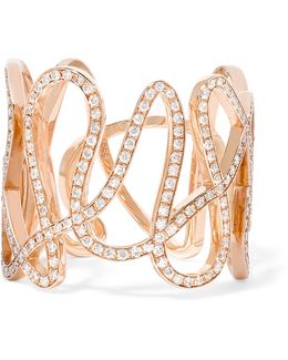 White Noise 18-karat Rose Gold Diamond Ring