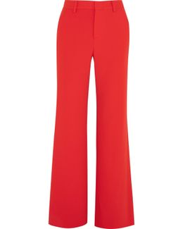 Paulette Red Wide-leg Trousers - Size 14