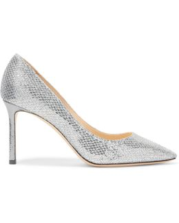 Romy Glittered Leather Pumps