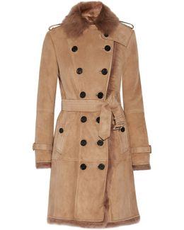 Toddingwall Shearling Trench Coat
