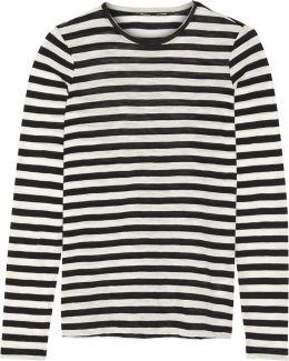 Striped Slub Cotton-jersey Top