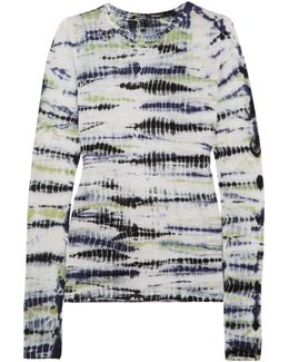 Tie-dyed Cotton-jersey Top