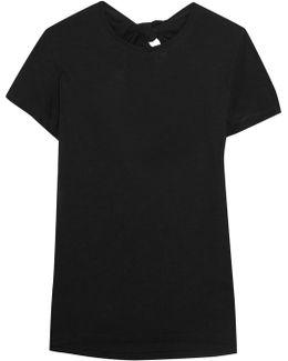Tie-back Cotton-jersey T-shirt
