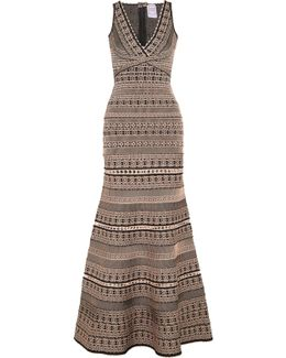 Stretch Jacquard-knit Gown