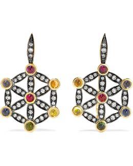 Seed Of Life Dormouse 18-karat Gold Multi-stone Earrings