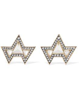 Ana 18-karat Gold, Topaz And Diamond Earrings