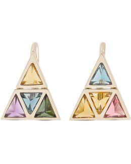 Kali 18-karat Gold Multi-stone Earrings