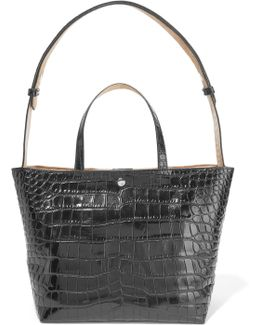 Eloise Croc-effect Leather Tote