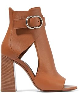 Millie Cutout Leather Ankle Boots