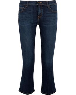 Selena Cropped Mid-rise Bootcut Jeans