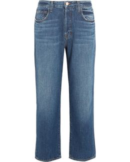 Ivy Cropped High-rise Straight-leg Jeans
