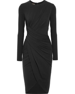 Draped Stretch-jersey Dress