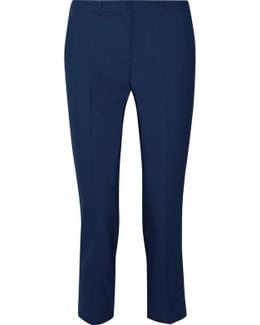 Samantha Cropped Stretch-wool Skinny Pants