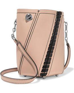 Hex Mini Paneled Leather Shoulder Bag