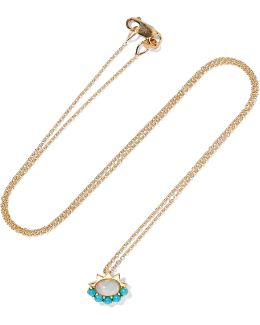 18-karat Gold, Opal And Turquoise Necklace