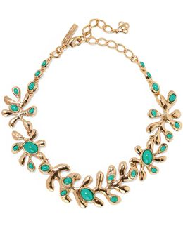 Sea Tangle Gold-plated Resin Necklace