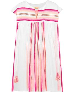 Elsi Striped Cotton-blend Gauze Kaftan