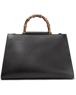 Nymphaea Bamboo Large Two-tone Leather Tote