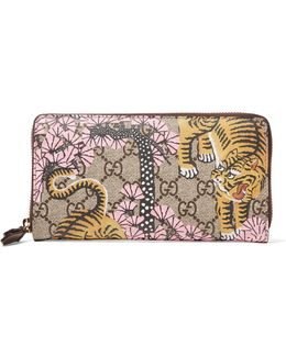 Leather-trimmed Printed Coated-canvas Continental Wallet