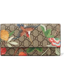 Printed Coated-canvas Continental Wallet
