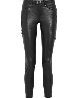 Moto Leather Skinny Pants