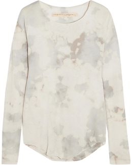 Tie-dyed Cotton-blend Jersey Top