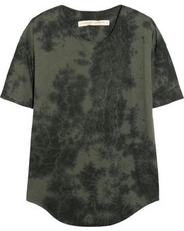 Tie-dyed Stretch Cotton-blend Jersey T-shirt