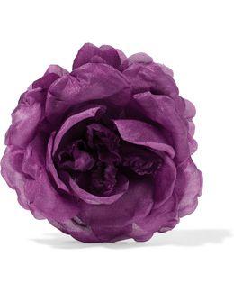Floral Silk Brooch