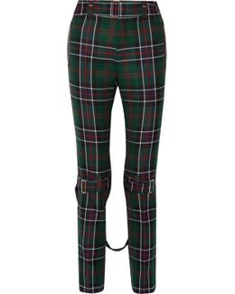 Tartan Wool Slim-leg Pants
