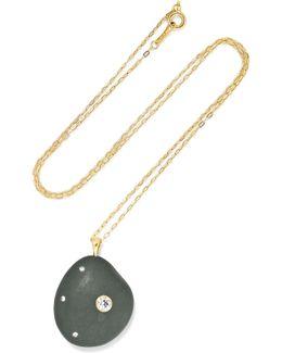 Olivia 18-karat Gold, Stone And Diamond Necklace
