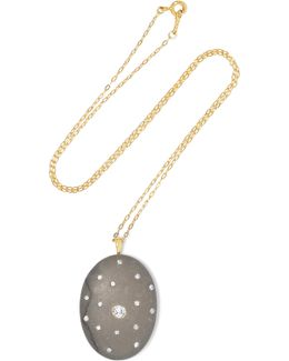 Spinoza 18-karat Gold, Stone And Diamond Necklace