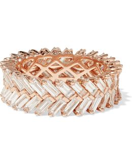 Zipper 18-karat Rose Gold Diamond Ring