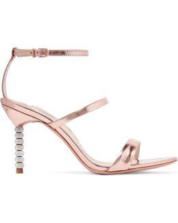 Rosalind Crystal-embellished Metallic Leather Sandals