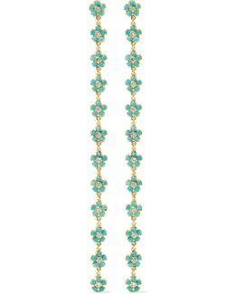 18-karat Gold, Diamond And Turquoise Earrings