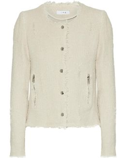 Frayed Cotton-tweed Jacket