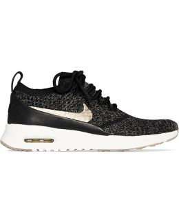 Air Max Thea Ultra Leather-trimmed Flyknit Sneakers