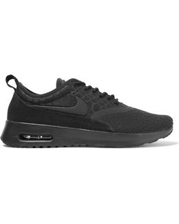 Air Max Thea Suede-trimmed Textured-knit Sneakers