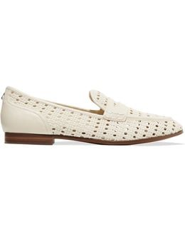 Leora Woven Leather Loafers