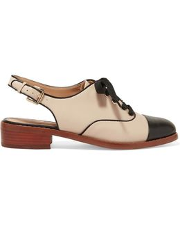 Damian Two-tone Leather Slingback Brogues