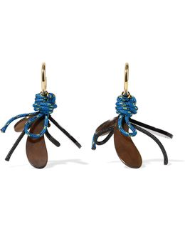 Gold-plated, Horn And Cord Earrings
