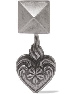 Burnished Silver-tone Earring