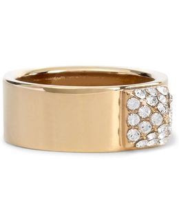 Gold-tone Crystal Ring