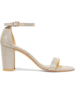 Nearly Nude lamé Sandals