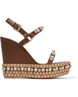 Cataconico 120 Embellished Leather Wedge Sandals