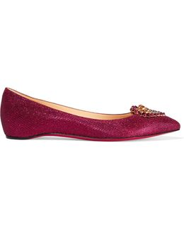 Coramia Embellished Glittered Canvas Flats