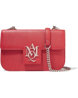 Insignia Textured-leather Shoulder Bag