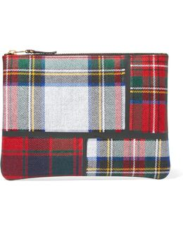 Taped Plaid Wool Pouch