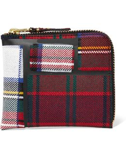 Taped Plaid Wool Wallet