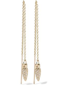 Suspension Gold Diamond Earrings